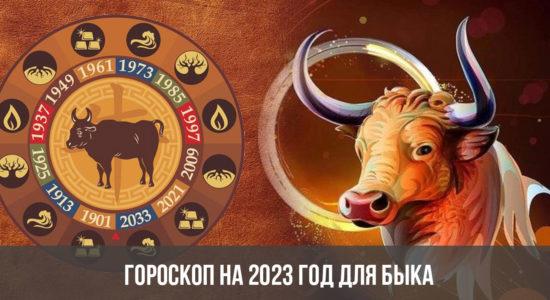 Гороскоп на 2023 год для Быка