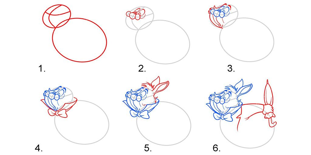 Схема изображения кролика