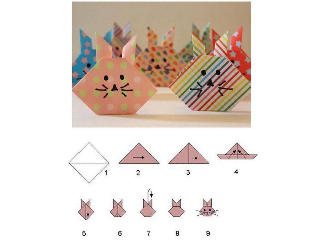 Кролик-оригами