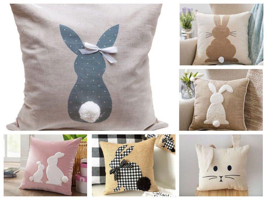 Подушки с фигуркой кролика