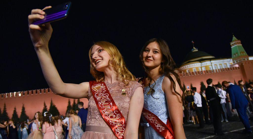 Выпускницы в Кремле
