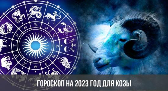 Гороскоп на 2023 год для Козы