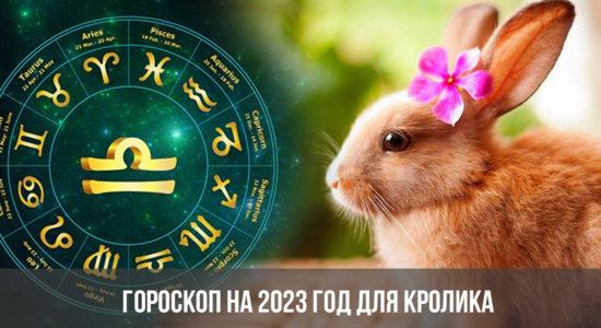 Гороскоп на 2023 год для Кролика