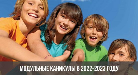 Модульные каникулы в 2022-2023 году