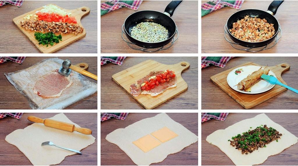 Рецепт рулета с мясом