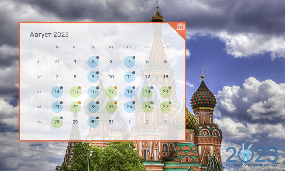 Православный календарь на август 2023 года