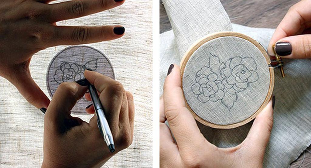 Перенесение рисунка на ткань