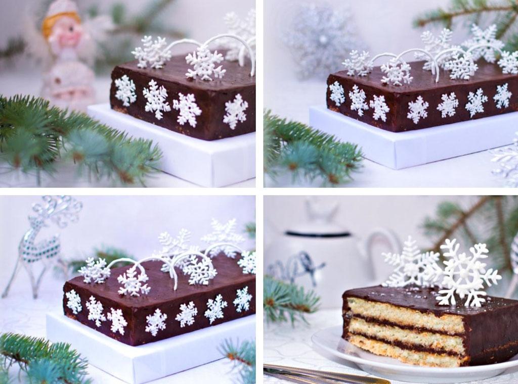 Новогодний торт в шоколаде