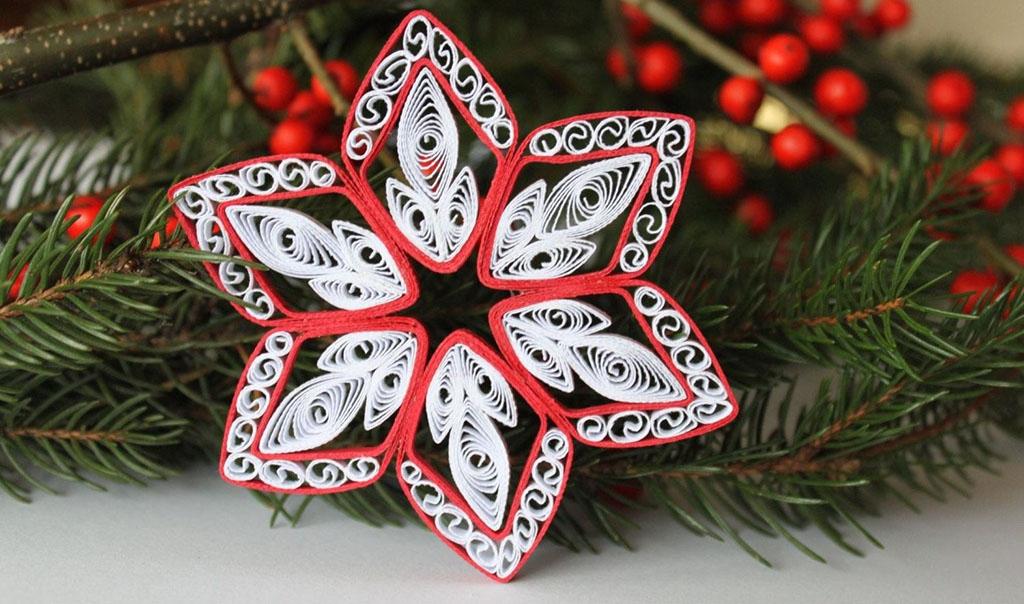 Снежинка из бумаги на ёлку