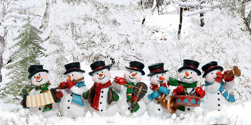 Снеговички-музыканты