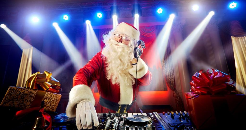 Дед Мороз диджей