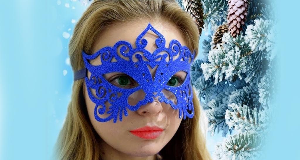 Ажурная маска из фоамирана