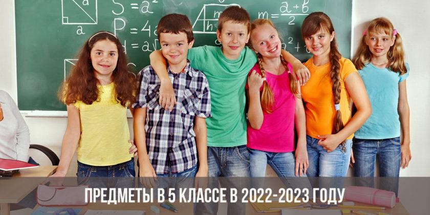 Предметы в 5 классе в 2022-2023 году: список