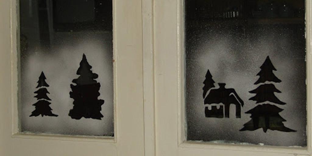 Рисунки на окнах