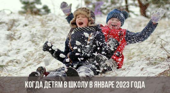 Когда детям в школу в январе 2023 года